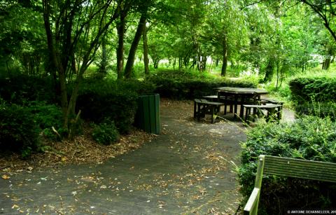 Het Park van het Kasteel in Boussu