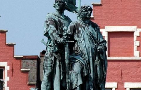 Standbeeld Jan Breydel en Pieter De Coninck